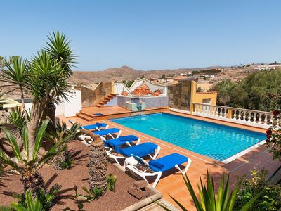 Photo for Stunning private villa for 12 guests with WIFI, A/C, private pool, TV, pets allowed and parking
