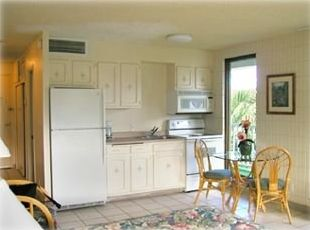 This end unit comes with a fully equipped kitchen.