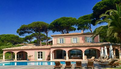 Photo for Beautiful Provencal Villa with large pool, garden and views across to St Tropez
