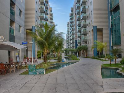 Photo for Beachfront apartment, fully furnished, garage, wifi, ideal location
