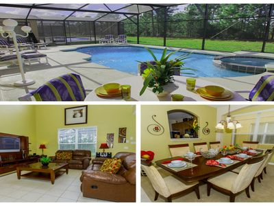 Photo for BEST DEAL LUXURY LARGE HOUSE!! Pool 6 Bed Home Within 8 Miles to Disney