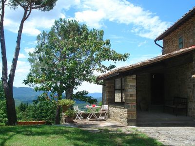 Photo for Part of an authentic Tuscan farmhouse with stunning views on the Mugello hills