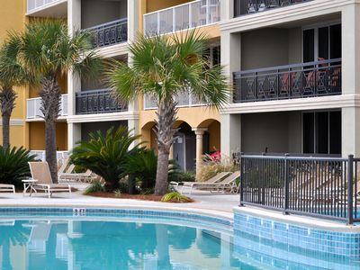 Photo for Spacious, Beachfront, Poolside Condo at Azure! FREE Beach Chairs with Umbrella!