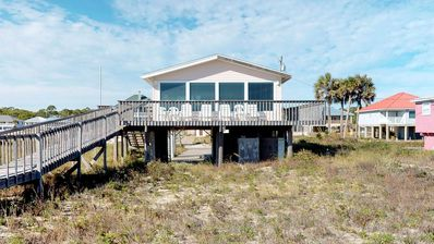 "Photo for Ready now - No storm issues! FREE BEACH GEAR! Beachfront, Gulf Beaches, Private Boardwalk, Wi-Fi, 3BR/2BA ""Sand N' Sea"""