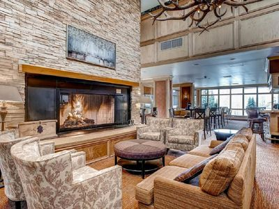 Photo for Lake-front Resort Lodge Room for 4 guests, with 2 Queen Beds. Kids Ski Free.