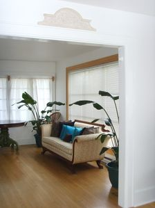 Large living room area with picture window