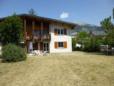 Photo for Apartment on the ground floor in chalet, comfortable barcelonnette