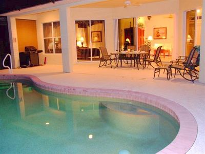 Photo for Stunning Home with Pool - on the golf course in the Lely Resort - WIFI - Bikes