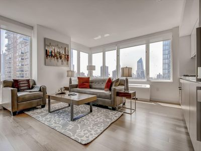 Photo for Sophisticated 1BR | WiFi + Laundry + Kitchen | Hudson Yards | by GLS