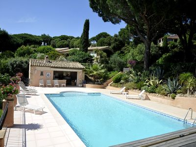 Photo for Large family villa-pool and garden overlooking Ste Maxime gulf