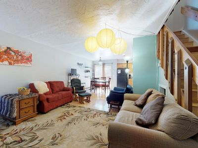 Photo for NEW LISTING! Spacious townhome w/large deck, full kitchen & wood fireplace