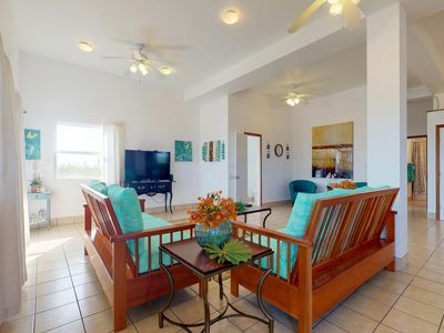 Photo for Seaside home w/ private pool, enclosed yard, beach & great views - close to town