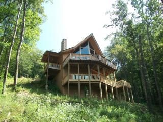 Private, Secluded View Side of Chalet overlooking Big Bald Mtn at 5,600 ft