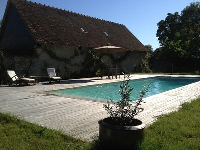 Photo for Charming house with pool in the heart of the Loire Valley