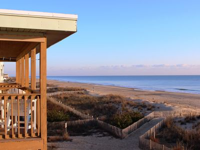 Photo for 126th Street, Oceanfront, 3rd Floor -- Fantastic view!  Walkout beach access!