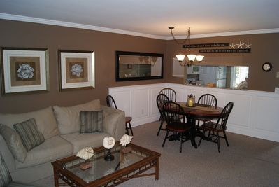 Our living and Dining area - this pic shows the older furniture.