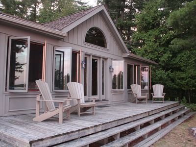 Photo for Recently Rebuilt Island Cottage Offering Spectacular Views Of Stoney Lake