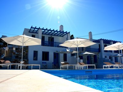 "Photo for ""White Blue"" Amazing Sea View House named ""Chrissi Akti"" at Krotiri Paros"