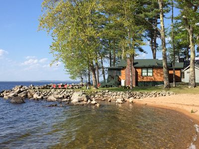 Photo for Like New With Luxury Amenities With 250 Ft Of Private Sandy Frontage On Sebago