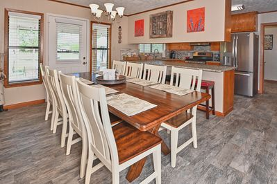 Beautiful open kitchen and dining area