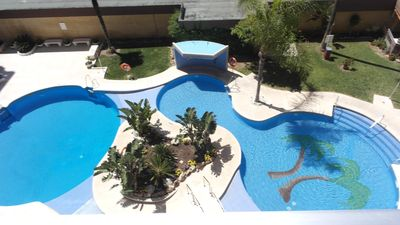 Photo for 1 Bed apt, Large Balcony, Superb Pools&Garden, Ef Palm Beach, MAY prices reduced