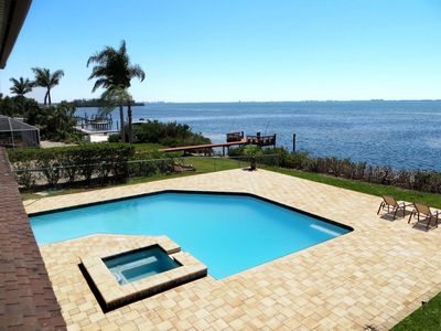 Photo for Spectacular 4 BR Bayfront Pool Home