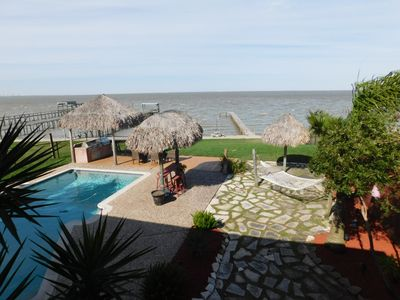 Photo for PRIVATE!!,3Br, 3Bth, Waterfront, Galveston Bay, Pool, Pier, Kemah, Bacliff