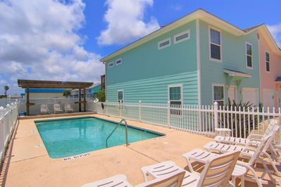 Your condo is right next to the pool!