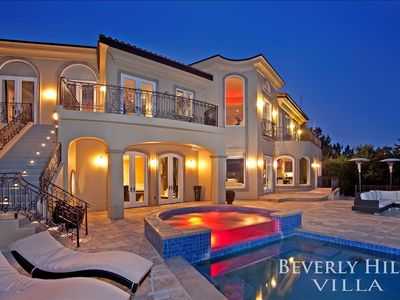 Photo for Quintessential Luxury Beverly Hills Mansion - Pool, Hot Tub, and Epic Views