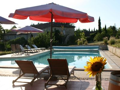 Photo for Romantic Gite 'Le Sauvignon' nestled in the vineyards with swimming pool