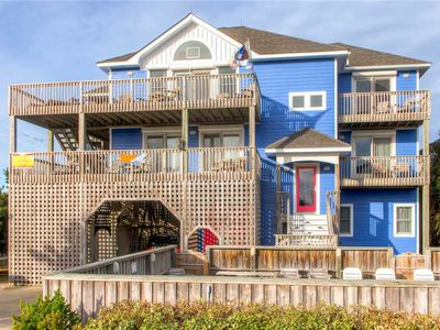 Photo for Walk to Everything! Semi-Oceanfront Avon w/ Pool, Hot Tub, Linens, Game Rm, WiFi
