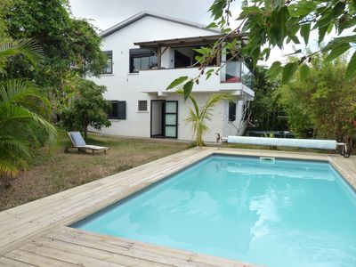 Photo for Villa with sea view, swimming pool, garden, 4 km from the beaches, near the golf course.