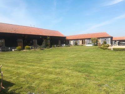Photo for The  Hay Barn. 3 en-suite bedrooms, wood burning stove, optional hot tub.