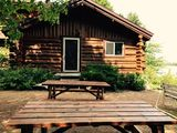 Lakefront 4 bdrm Log cabin vacation rental near Hurley and Mercer, Wisconsin