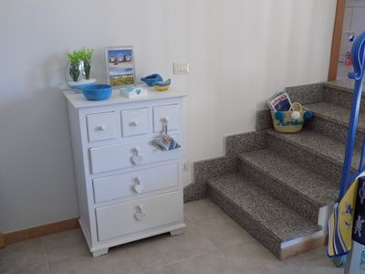 Photo for Apartment furnished in new marine style, 150 meters from the beach