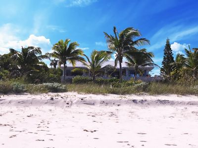 Photo for PRIVATE BEACHFRONT ESTATE WITH POOL ON MILES-LONG PINK-SAND BEACH