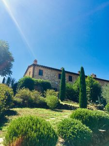 Photo for Beautiful house near San Gimignano in Tuscany with views, pool,garden, A/C, WiFi