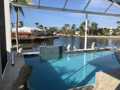 Photo for 205-m² villa, pool, great view, palm trees, canals, west-Florida, sandy beaches
