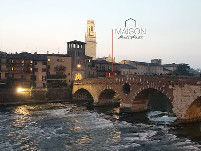 Photo for Maison Ponte Pietra - a small terrace with the most beautiful view of Verona