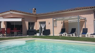 Photo for Superb detached villa near Cannes and sea, quiet, view, air conditioning and private pool