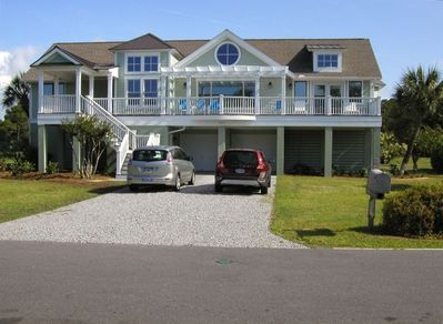 SEA SOUNDS ...Location, Location..2nd row oceanfront, back deck golf course view
