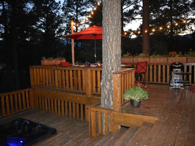 Photo for BRENTWOOD VIEWS NEAR SKI RUN ROAD ALTO NM...VIEWS OF SIERRA BLANCA OFF THE DECK