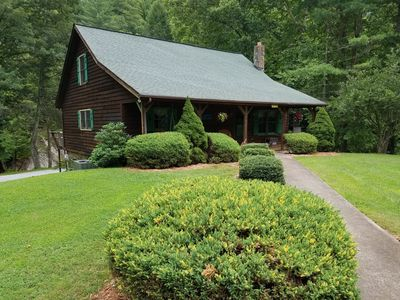 Photo for Private  Mountain Cabin on trout stream with river views from all rooms
