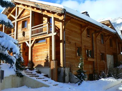 Photo for Character apartment in a chalet on the slopes Serre Chevalier 1400