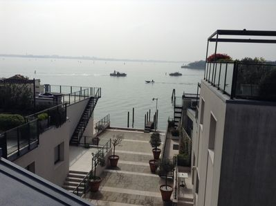 view from private roof terrace of private dock