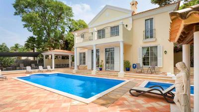 Photo for Villa Sunny Days is a four plus one bedroom villa located in the popular Pinheiros Altos resort in Quinta do Lago. This villa has four bedroom in the main house and one in the annexe.