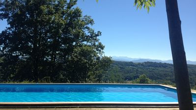 heated swimming pool. with stunning views. Shared with neighboring  property