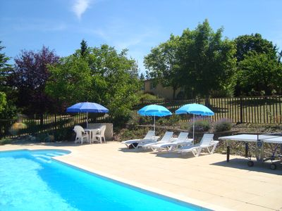 Photo for Family-friendly, dog-friendly gite with pool, play area & views near Cahors