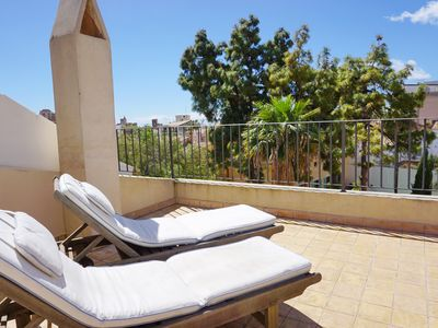 Photo for Designer townhouse with private terrace and views over Palma's old town! Garage