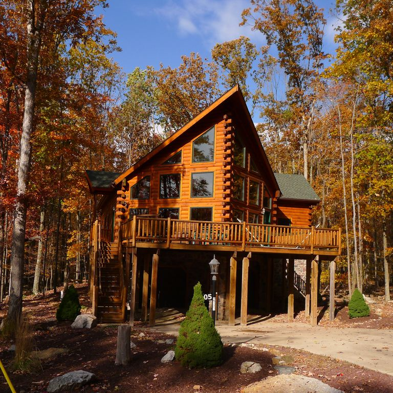 Log Cabin Rental In Blue Mountains Poconos Arcadian
